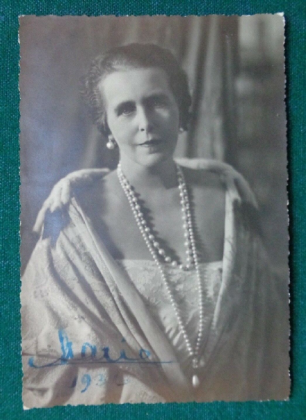 Antique Signed Christmas Photo of Queen Marie of Romania 1936 Duke of Windsor